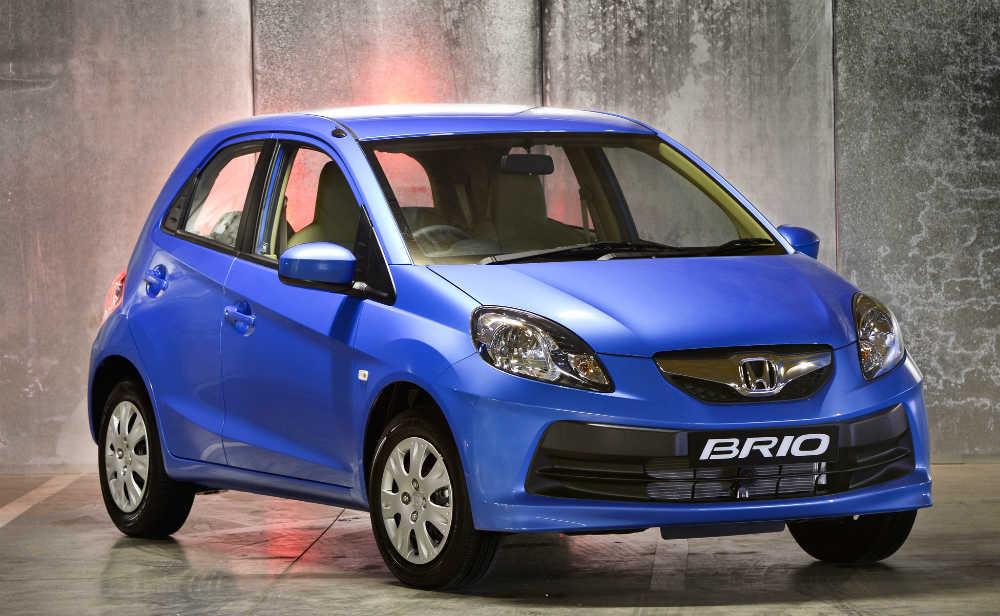 Blue Honda Brio