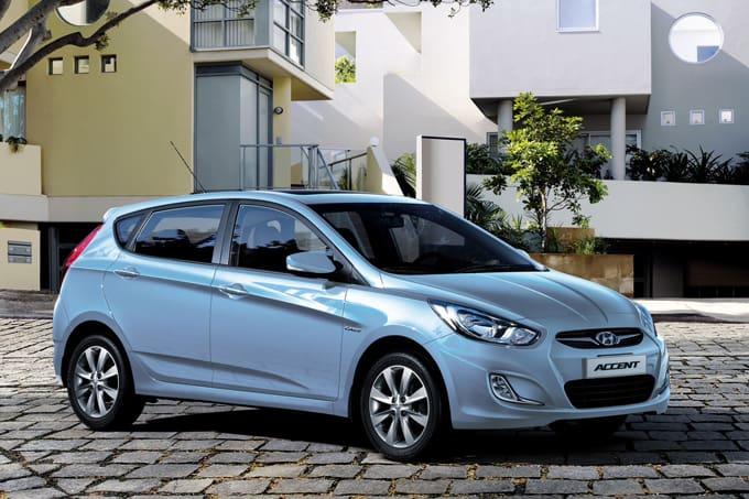 Blue Hyundai Accent