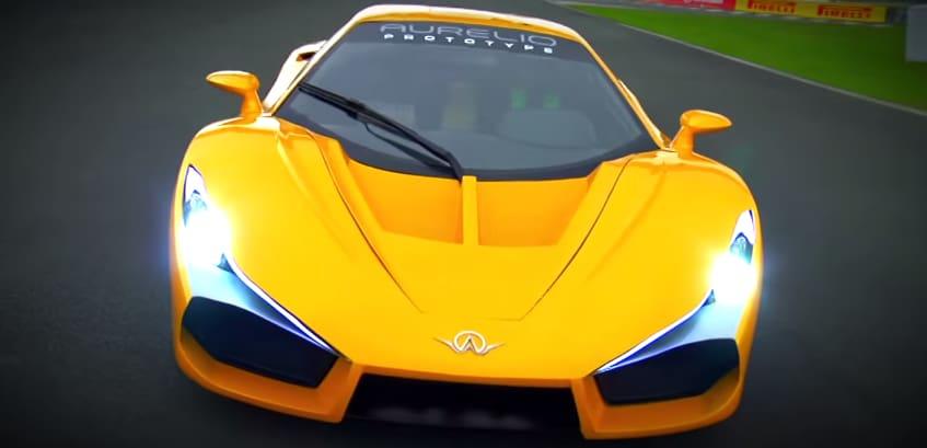 Yellow Aurelio Super Car Front View