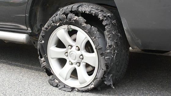 High Speeds Can Cause Your Tire to Burst, And What To Do When That Happens