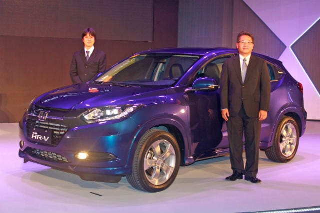 Blue Honda HR-V reveal