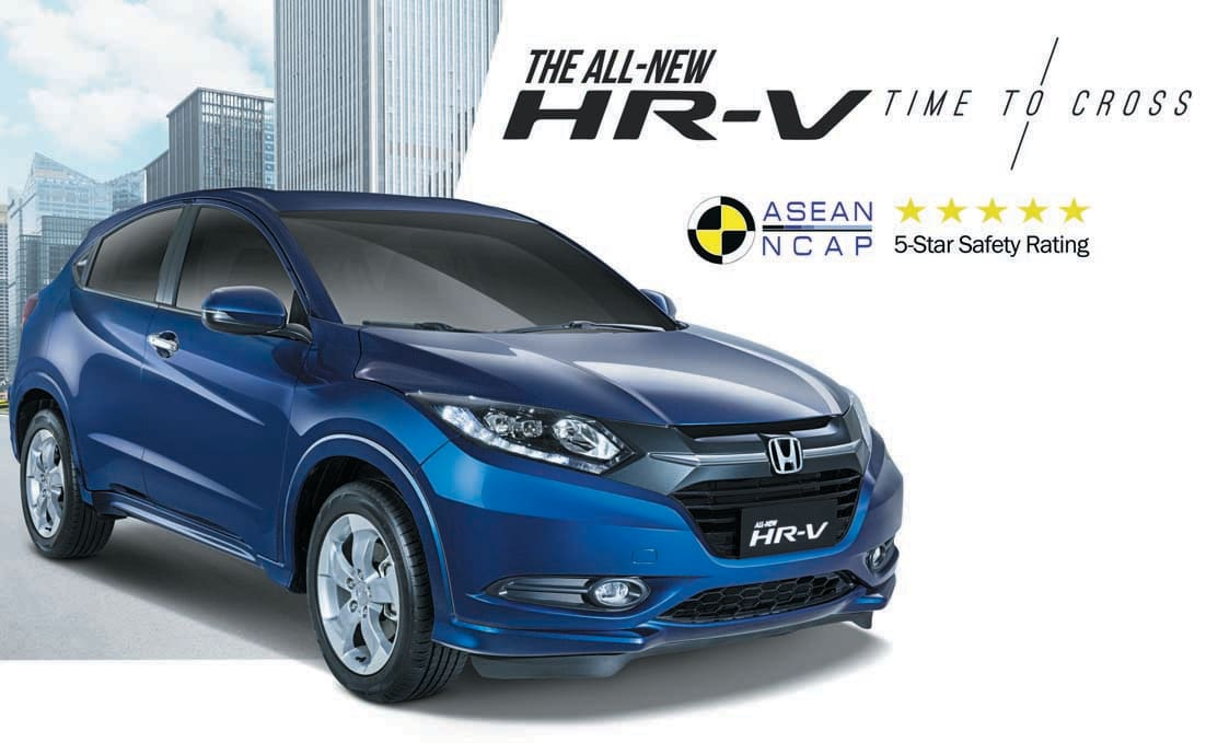 Subcompact Crossover HR-V bags 5-Star rating at ASEAN NCAP
