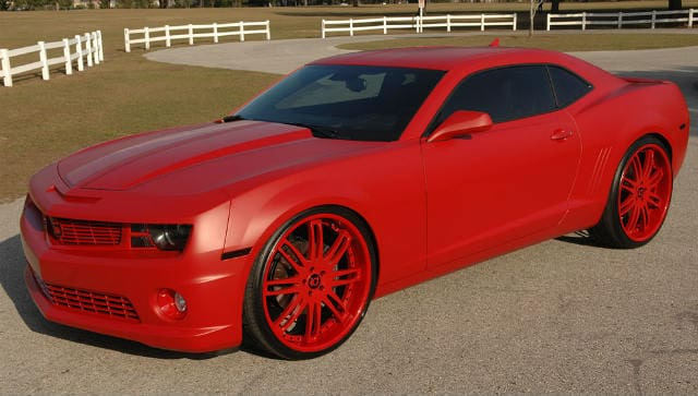 Red Chevrolet Camero