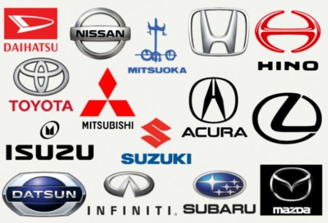 Japanese car brand logos
