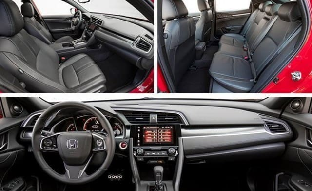 Interior features of the new Civic Hatchback 2017
