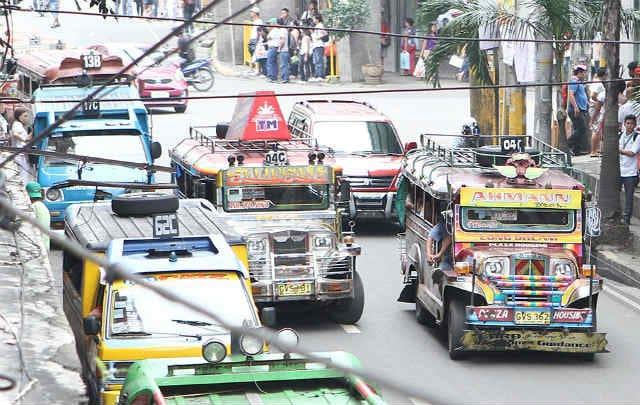 Jeepneys plying Manila streets