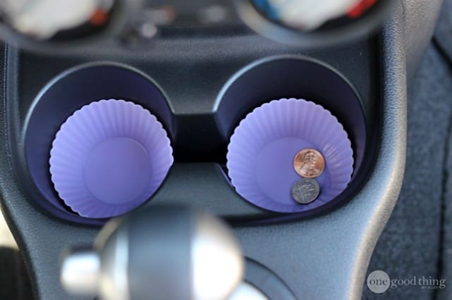 Muffin cup holders used to store coins