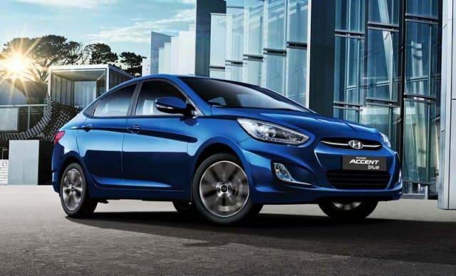 Dark blue Hyundai Accent