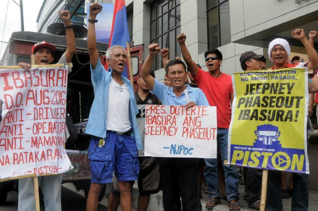 PISTON rallyists against LTFRB plans