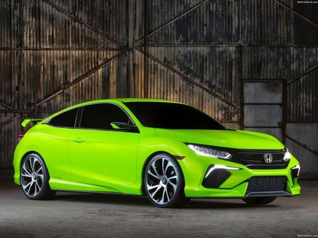 Lime green Honda Civic