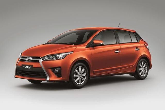 Orange Toyota Yaris