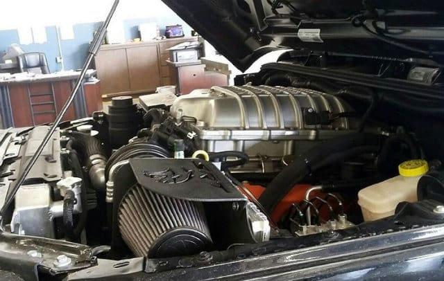 Hellcat Rhino XT engine bay