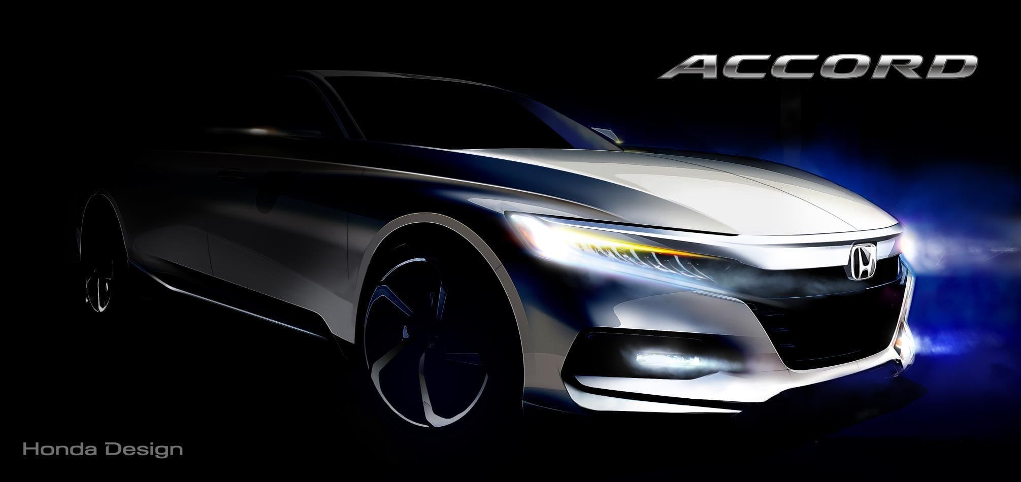 Honda Releases Sketch, Reveals Powertrain Choices of Next-Generation Honda Accord