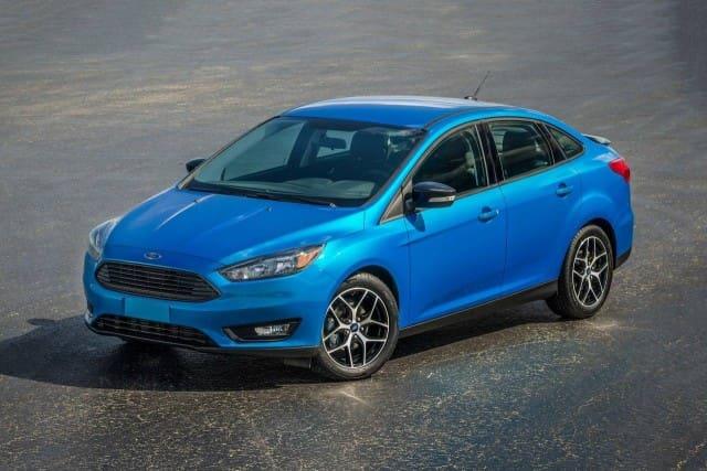 Blue Ford Focus