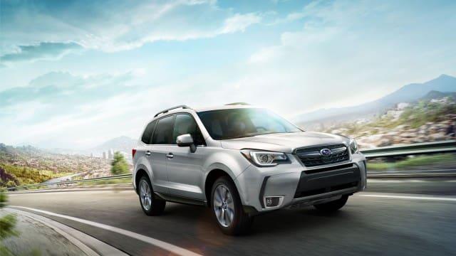 White Subaru Forester 2017