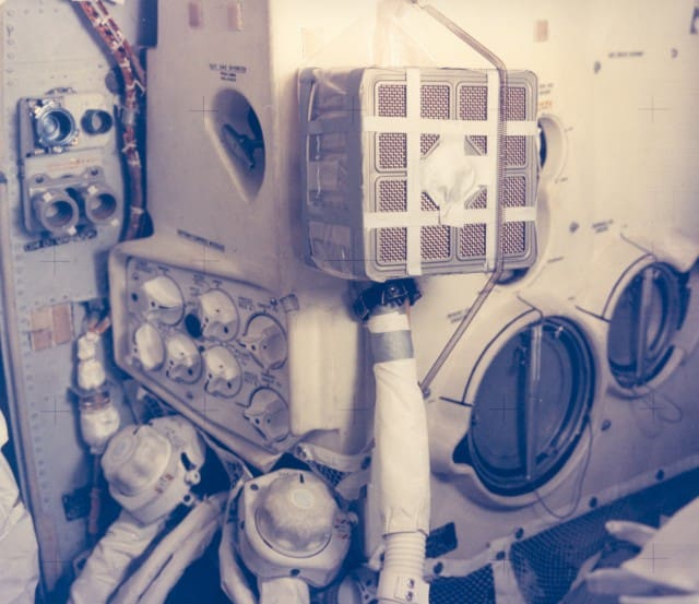 Duct tape hack made by Apollo 13 astronauts
