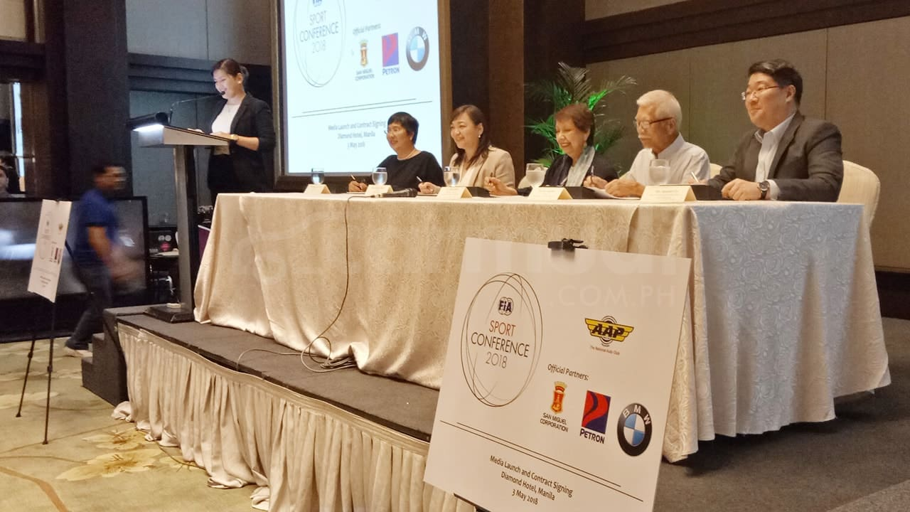 FIA, AAP Sign with BMW PH, Petron, San Miguel Corporation for FIA Sport Conference 2018