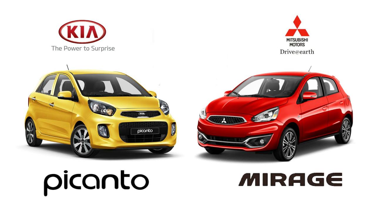 CAR COMPARISON: Kia Picanto vs. Mitsubishi Mirage