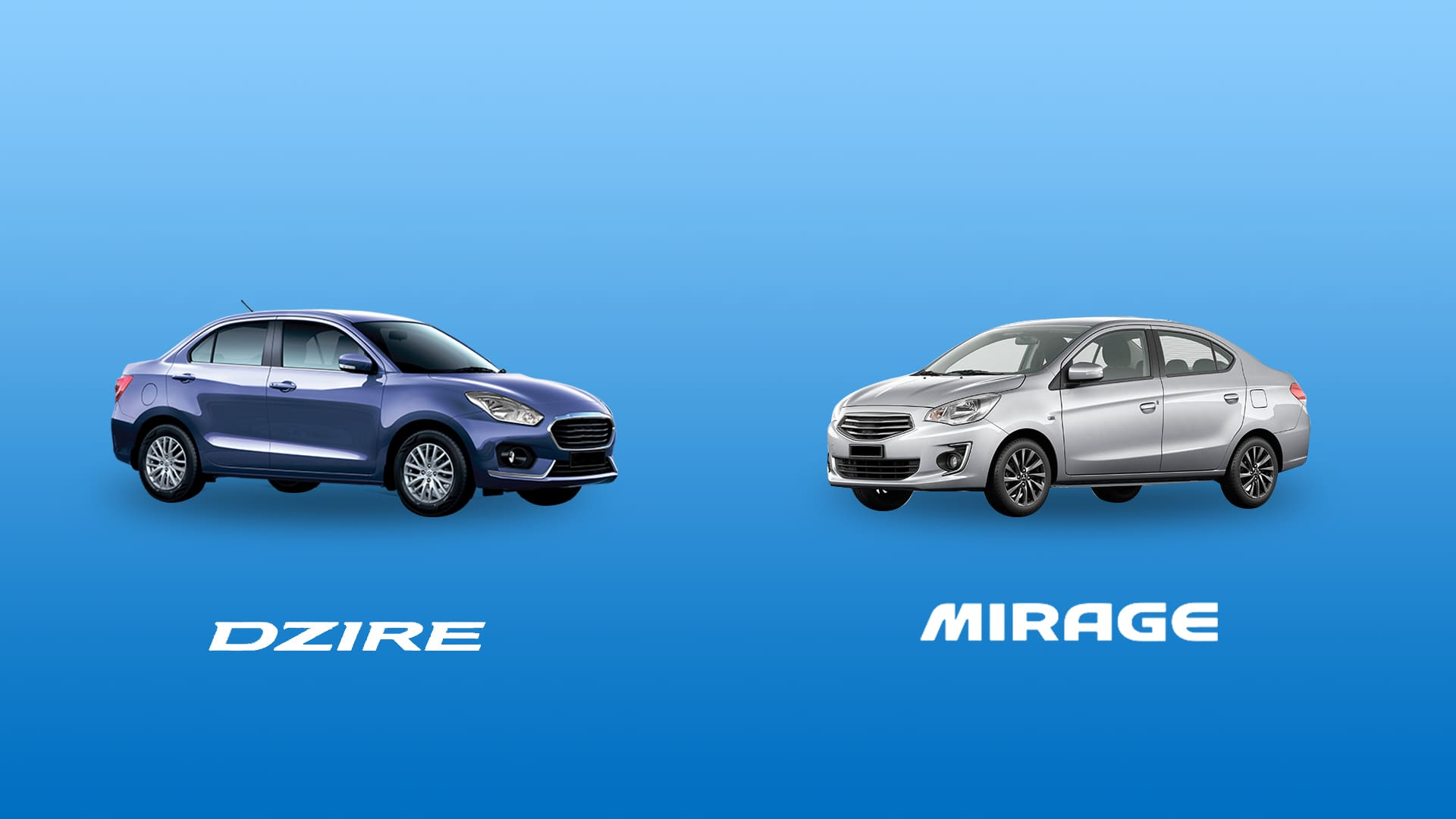 CAR COMPARISON: Suzuki Dzire 1.2 GL+ vs. Mitsubishi Mirage G4 1.2 GLS