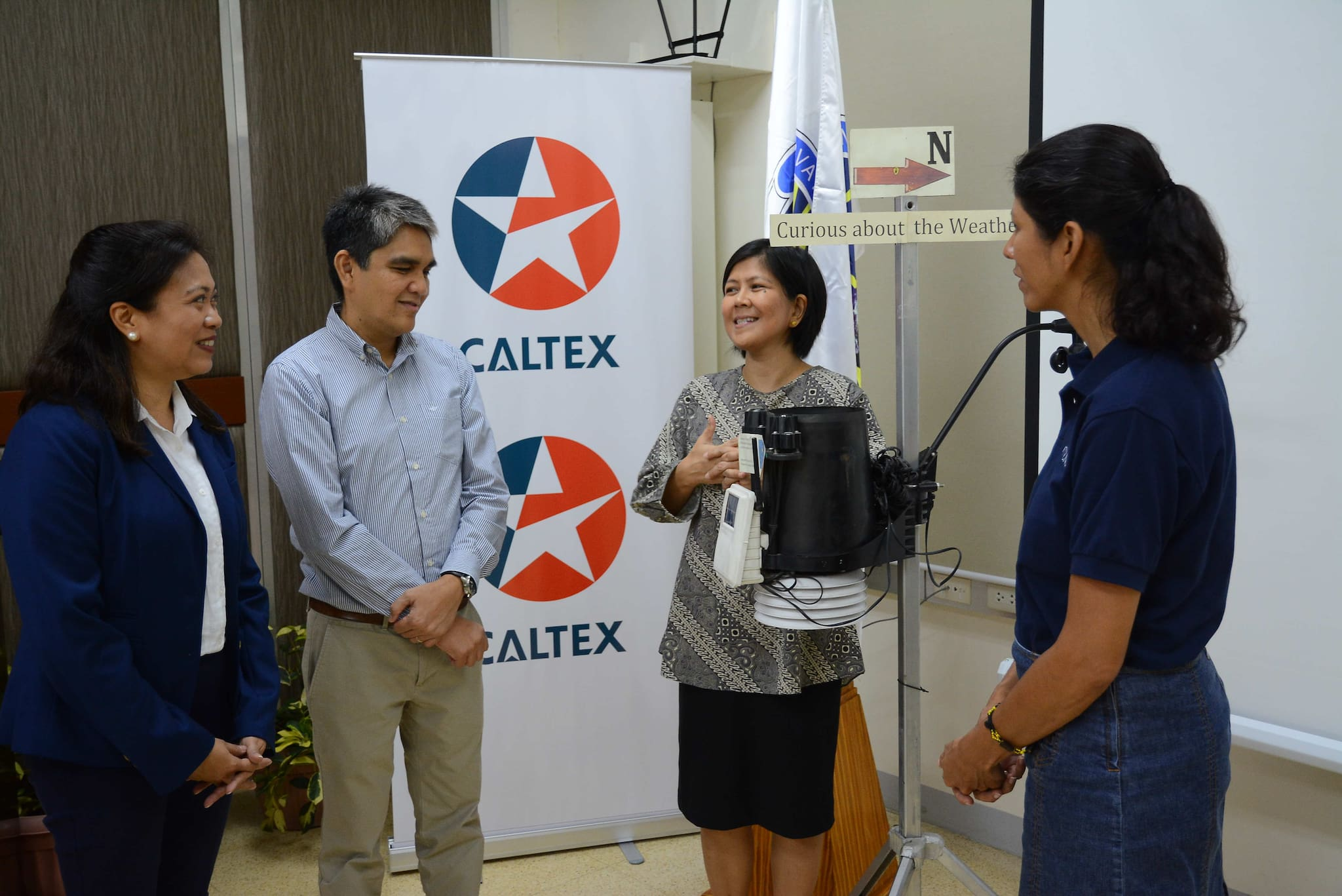 Caltex Continues to Host 18 Automated Weather Sensors, Donates PHP for Maintenance