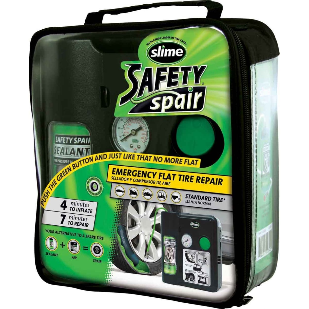 AFTERMARKET: Repair Your Flat Tire in 7-Minutes with Slime 70004 Power Spair