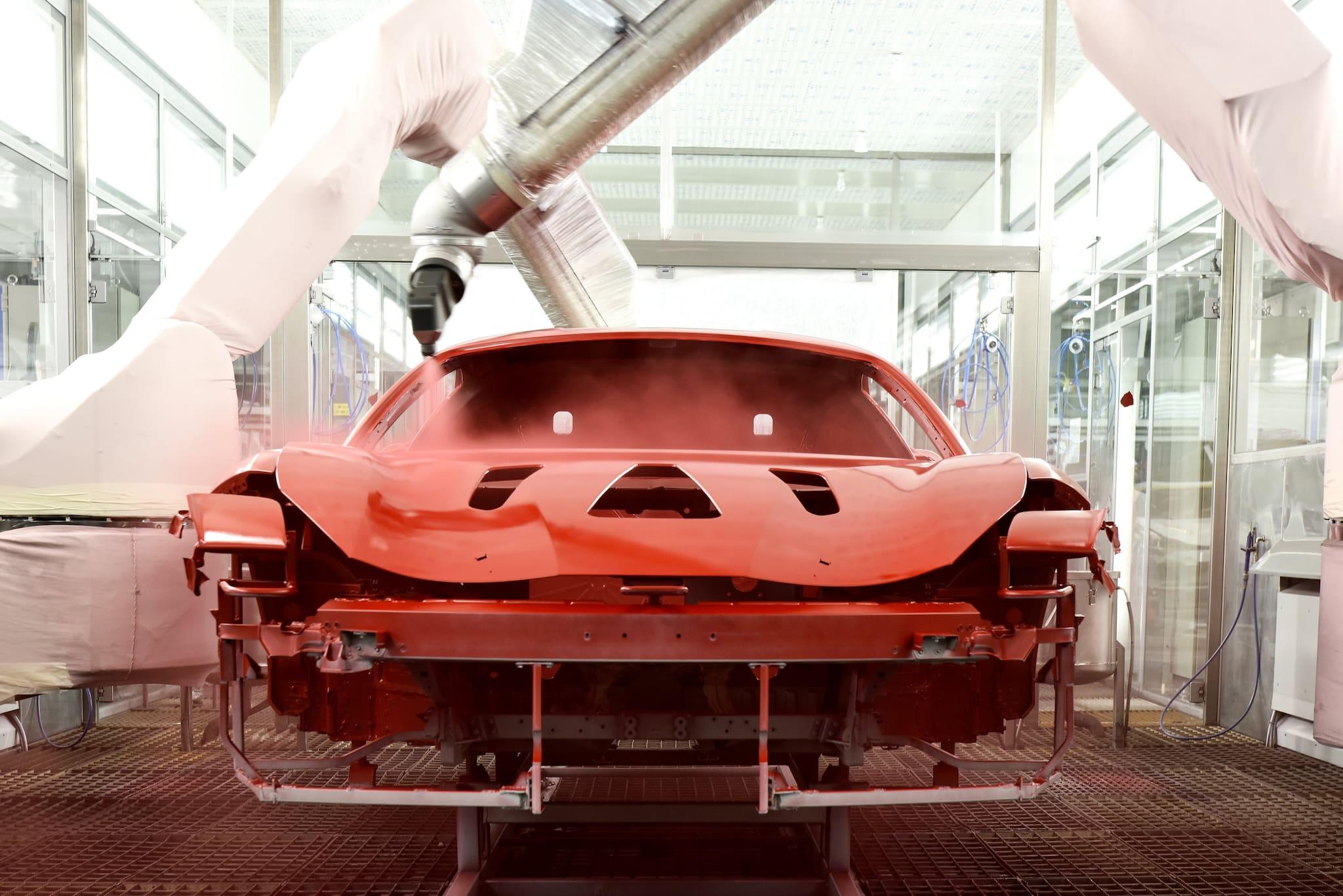Ferrari Introduces World's First Low-Bake Paint Technology