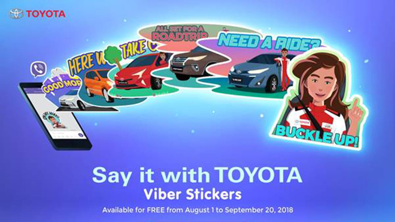 Toyota PH Releases 'Say it with Toyota' Viber Stickers