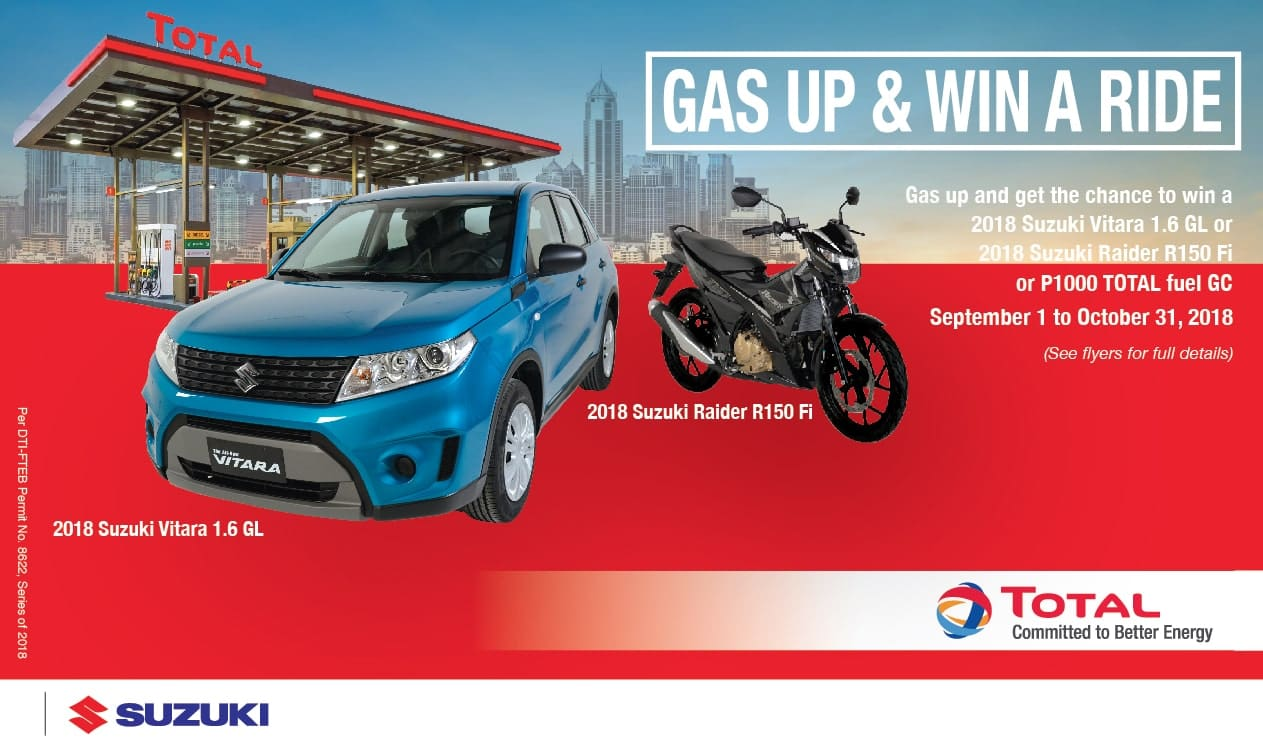 Total PH, Suzuki PH Team Up in 'Gas up and Win a Ride!' Promo