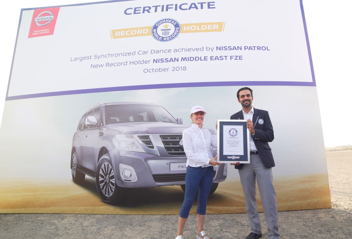 180 Nissan Patrols Set New World Record for Largest Synchronized Car Dance