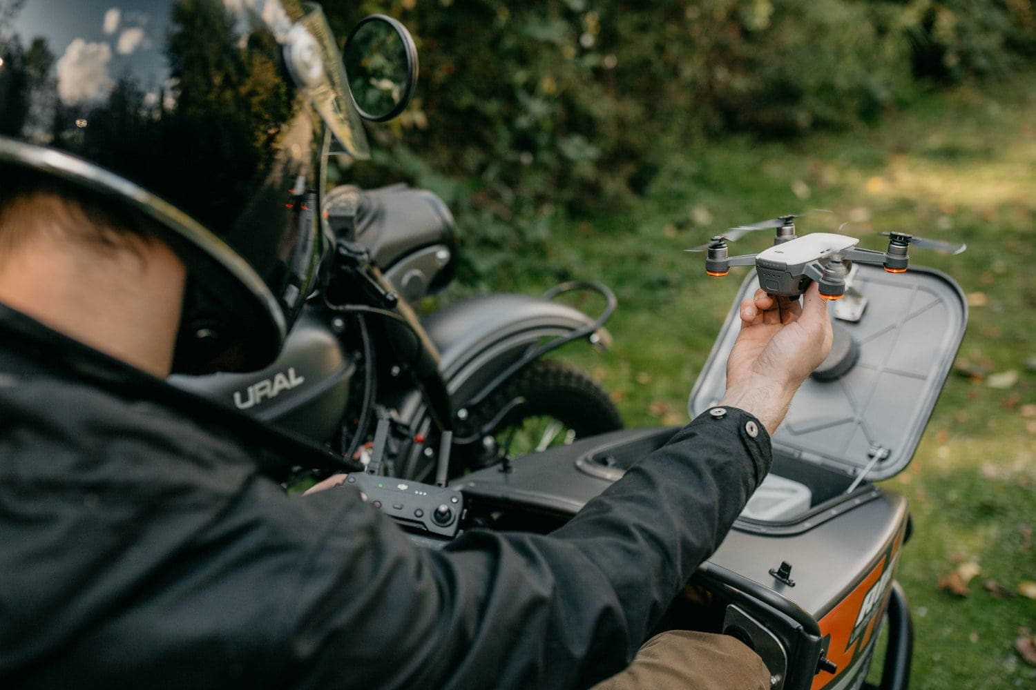 Ural Just Created a Motorcycle with a Built-In Drone