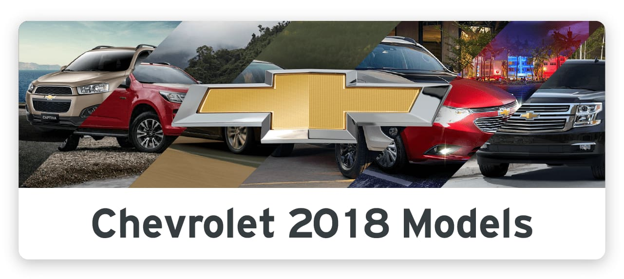 INFOGRAPHIC: Brand-New Chevrolet 2018 Models