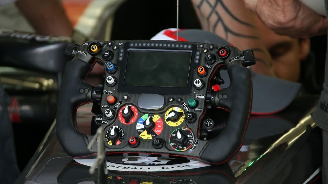 F1 Steering Wheel Explained--Here's How Every Button Works