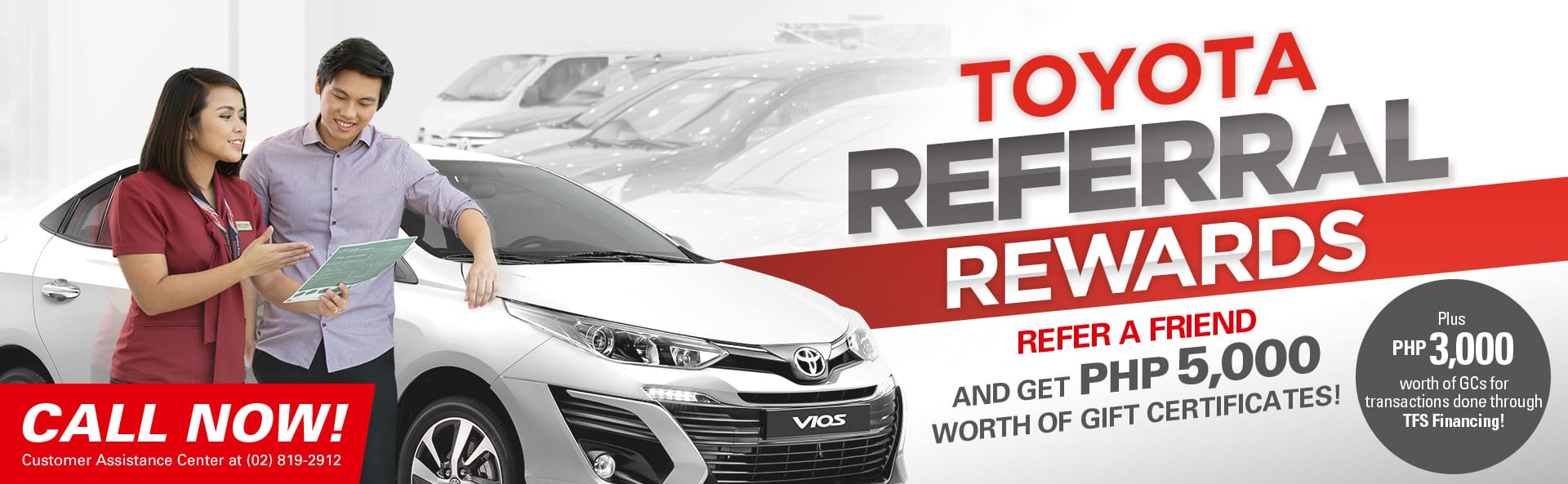 Got a Toyota? Get a Friend to Buy a Toyota Vios and Get Rewarded!