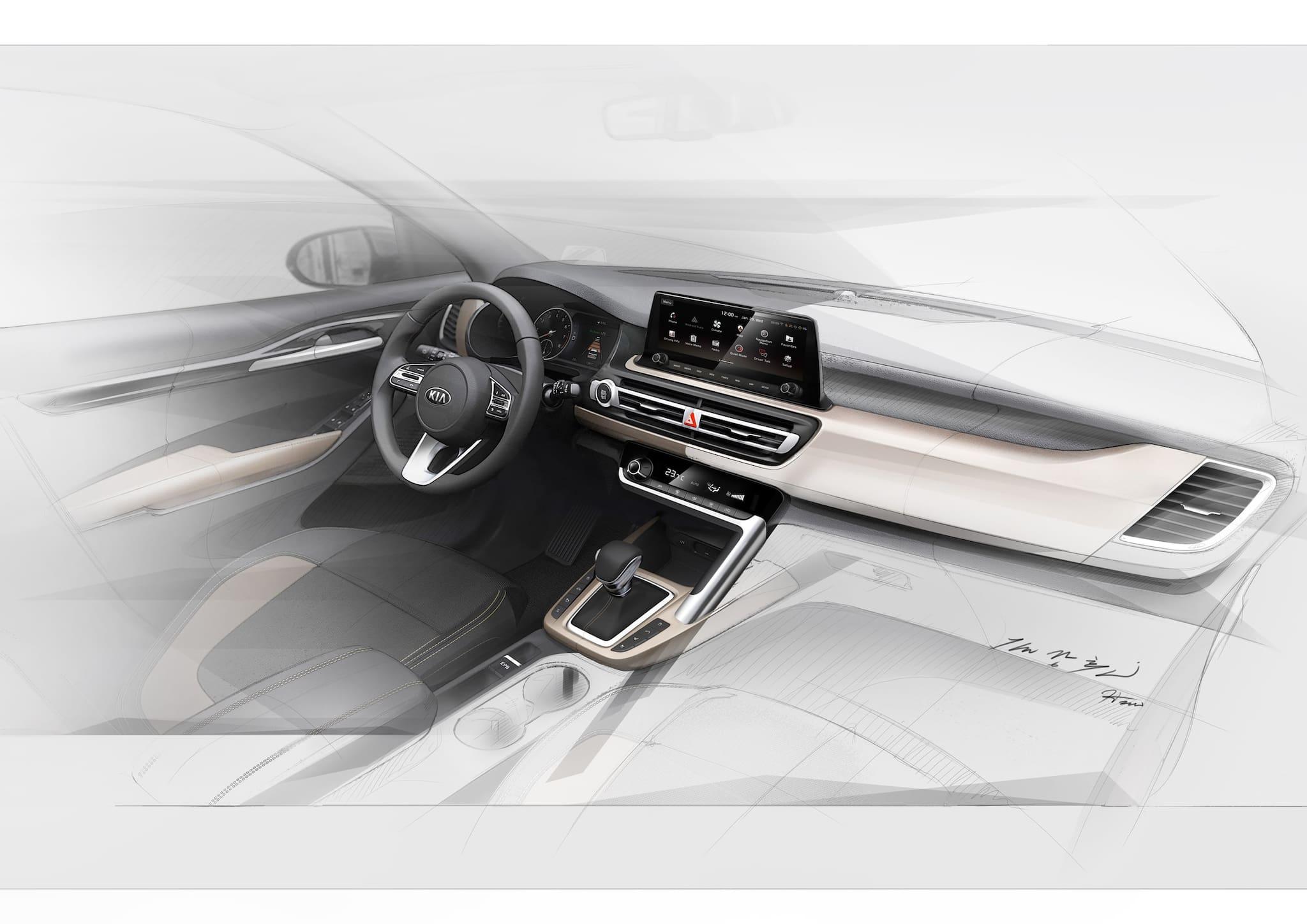 Kia Shows Off Interior Design of Upcoming New Small SUV