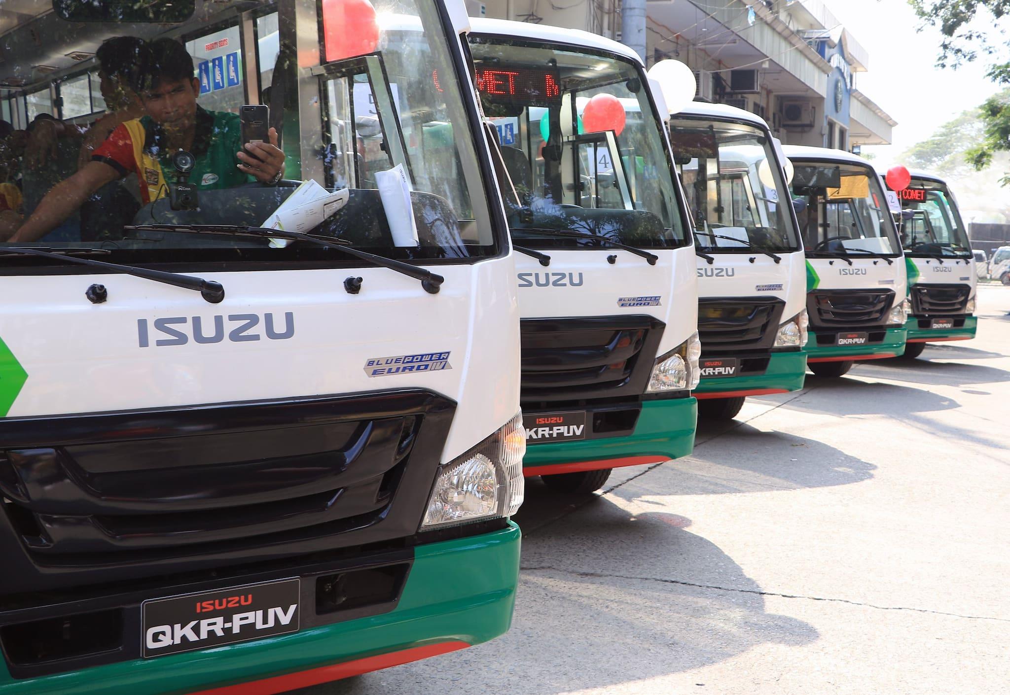Isuzu PH Turns Over 15 Modernized Class 3 PUV Units to Metro Comet Transport Cooperative