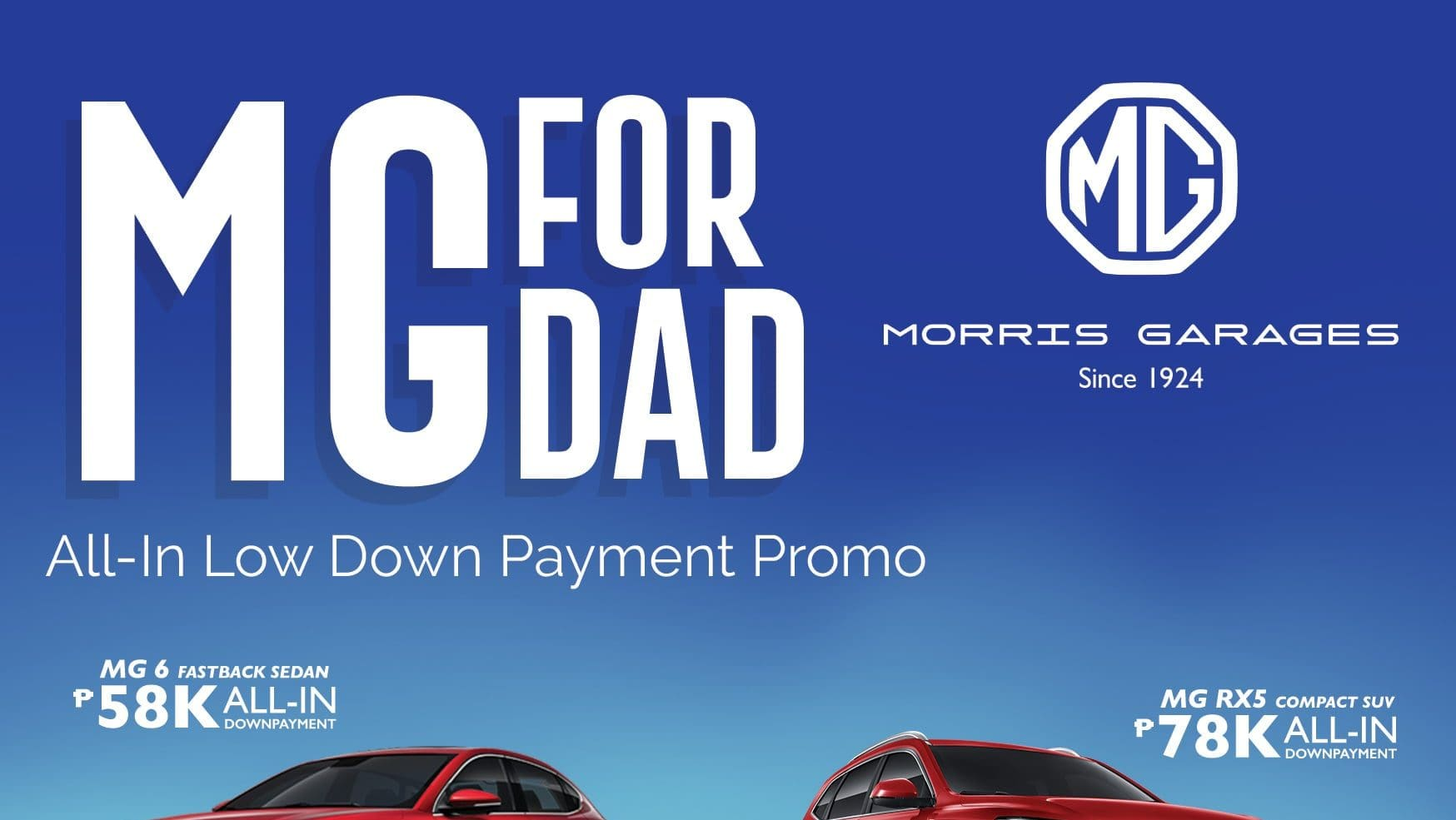 MG PH Celebrates Father's Day with 'MG for Dad' All-In Low Downpayment Promo
