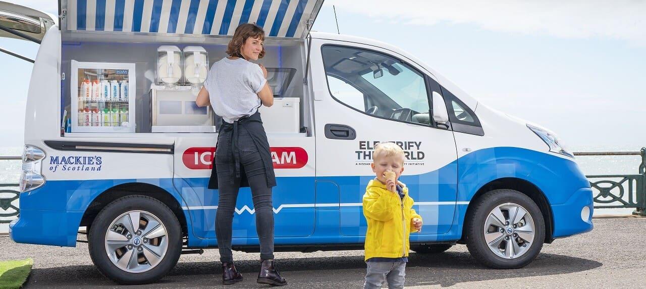 Nissan Creates Electric Ice Cream Van--Will Food Trucks Follow?