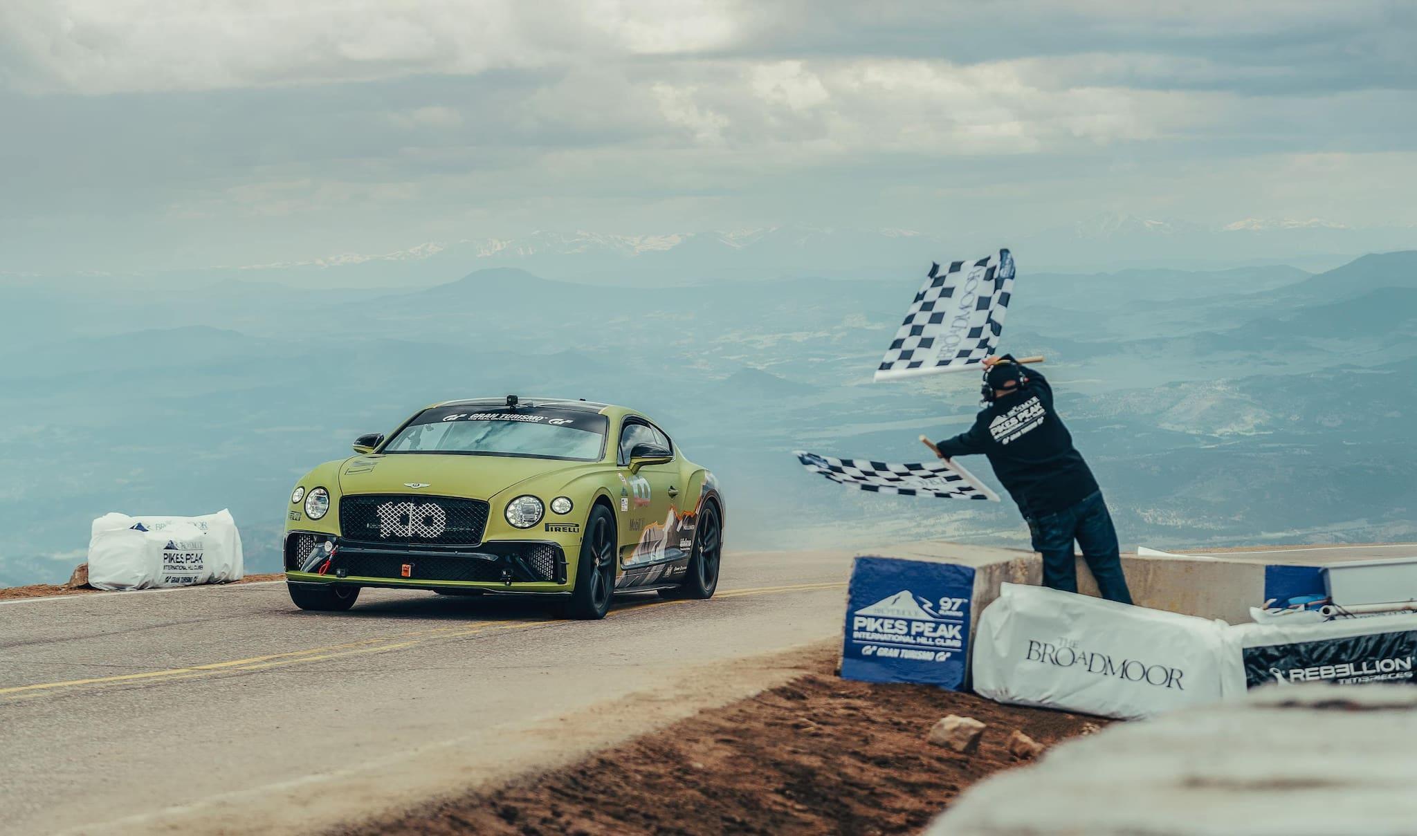 Bentley Continental GT Breaks Production Car Record at Pikes Peak Hill Climb
