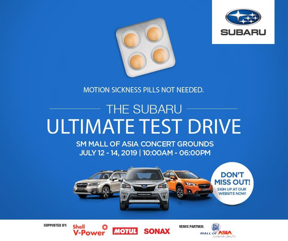 Motor Image PH to Open Subaru Ultimate Test Drive Series