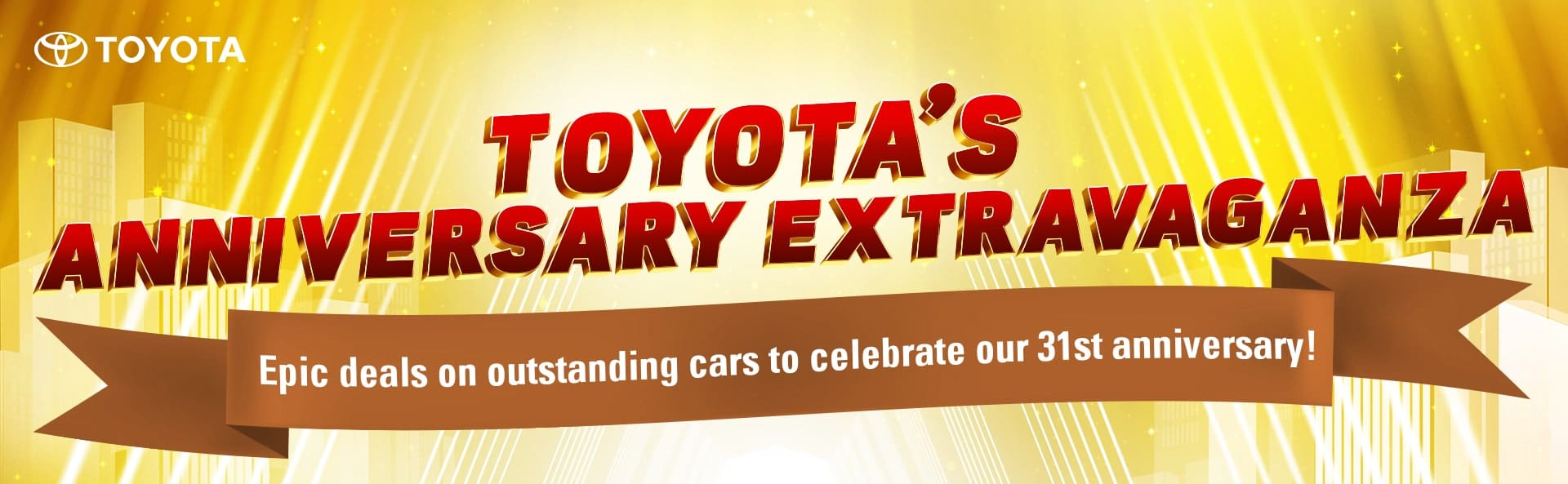 Celebrate 31 Years of Toyota with Huge Discounts, Savings This August
