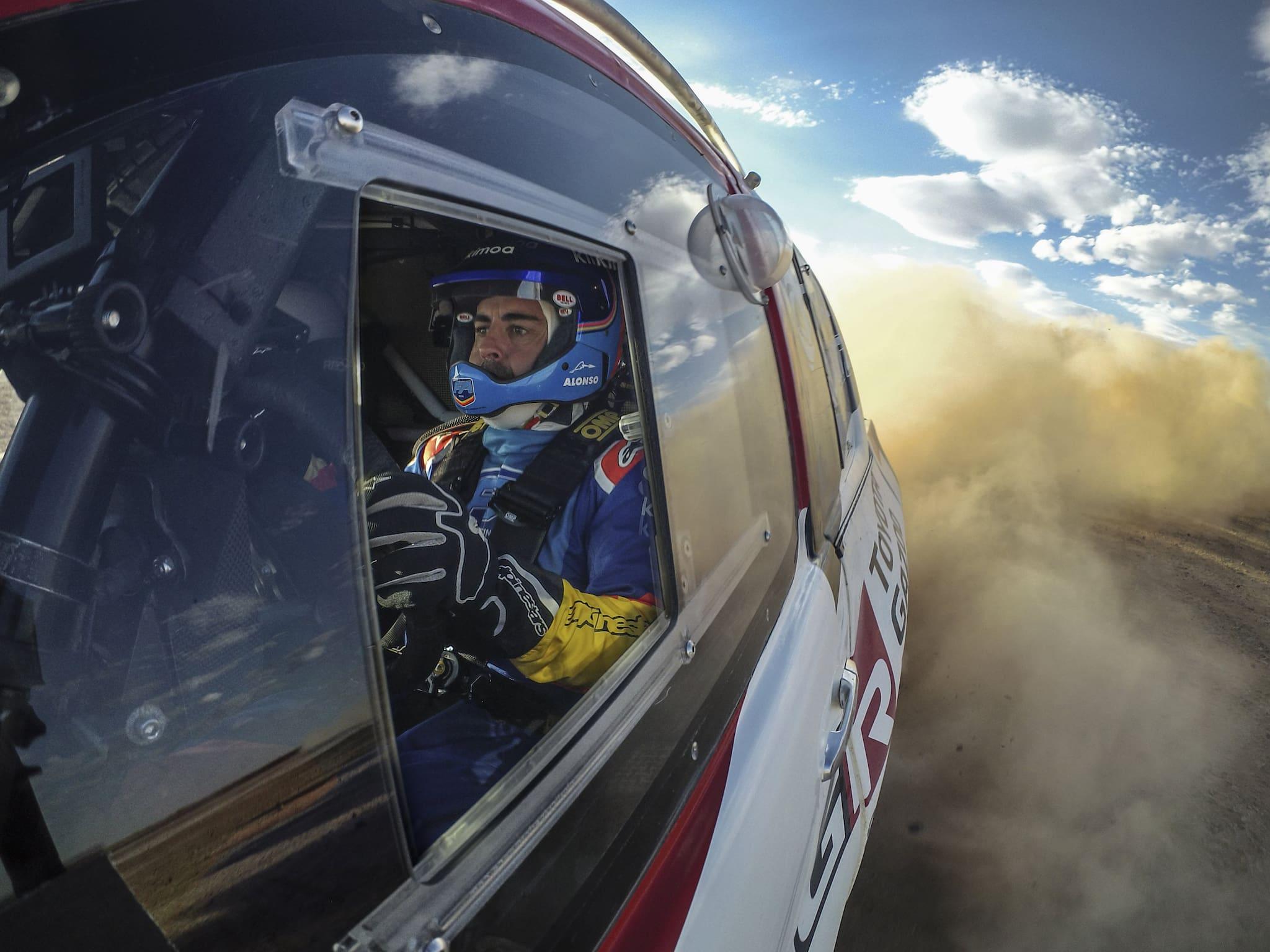 Fernando Alonso Keeps Eye on Dakar with Toyota Gazoo Racing