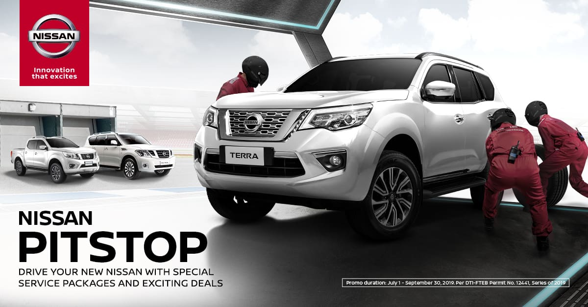 Nissan PitStop Promotion offers free periodic maintenance service for up to three years