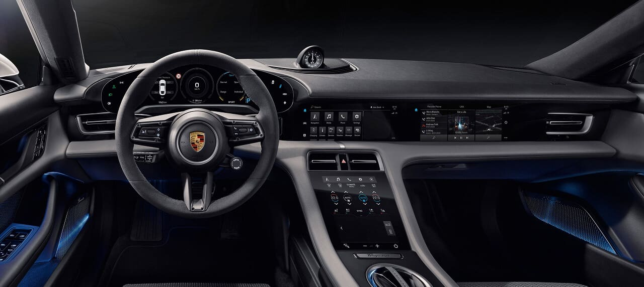 First Look at the Porsche Taycan Cabin