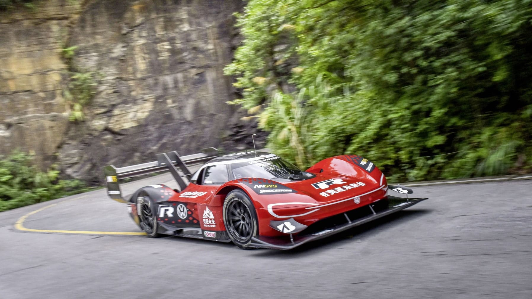 Volkswagen Sets First Record on Tianmen Mountain with Volkswagen ID.R