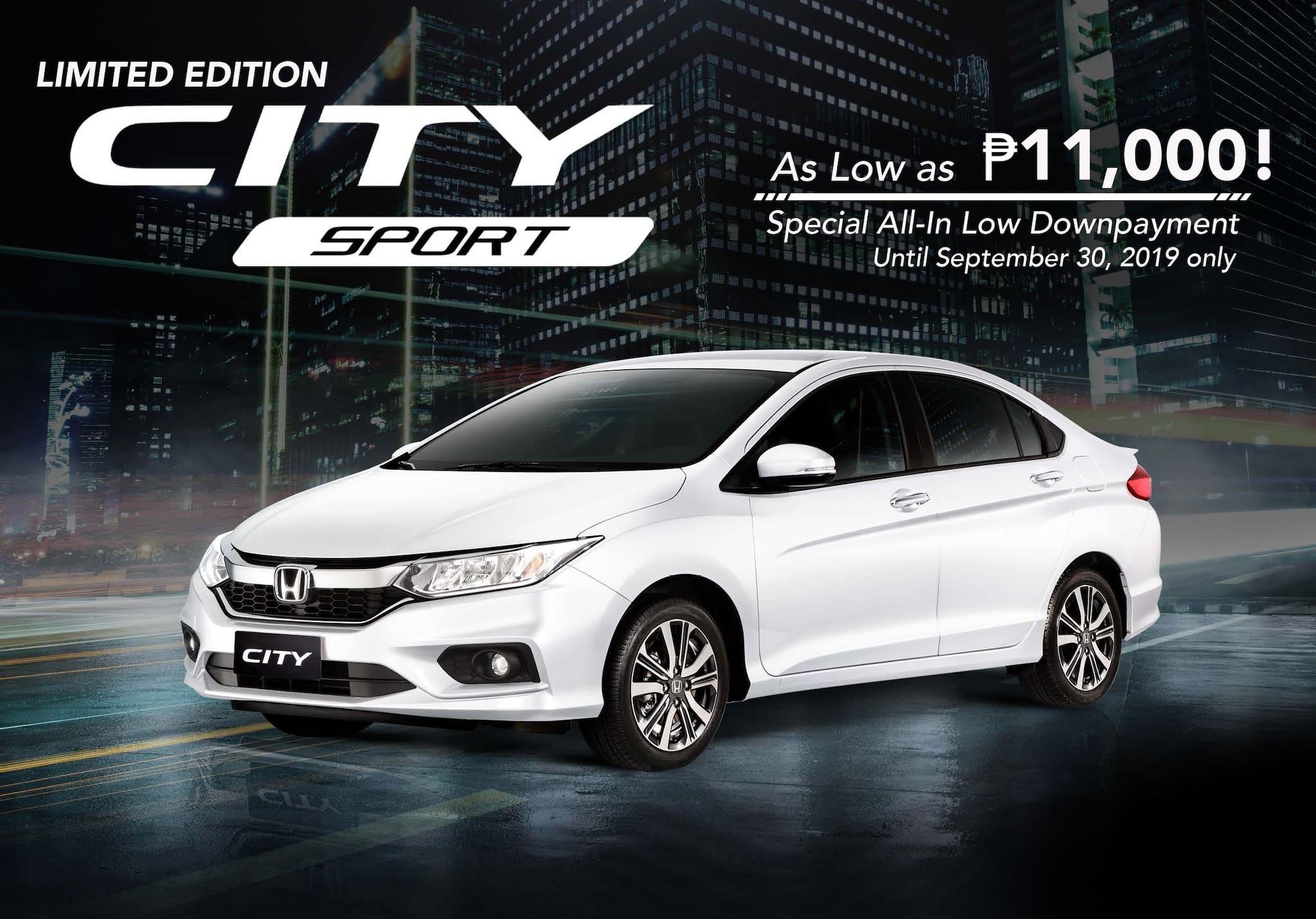 Honda PH Offers Latest Financing Program for New Honda City Sport