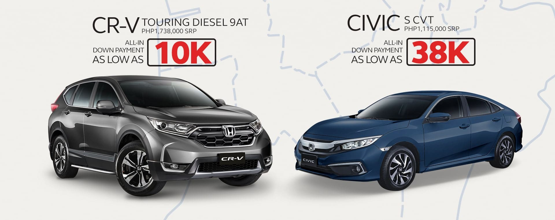 Honda Cars PH Announces Exclusive Deals for New Civic 1.8 S CVT, CR-V Touring Diesel 9AT