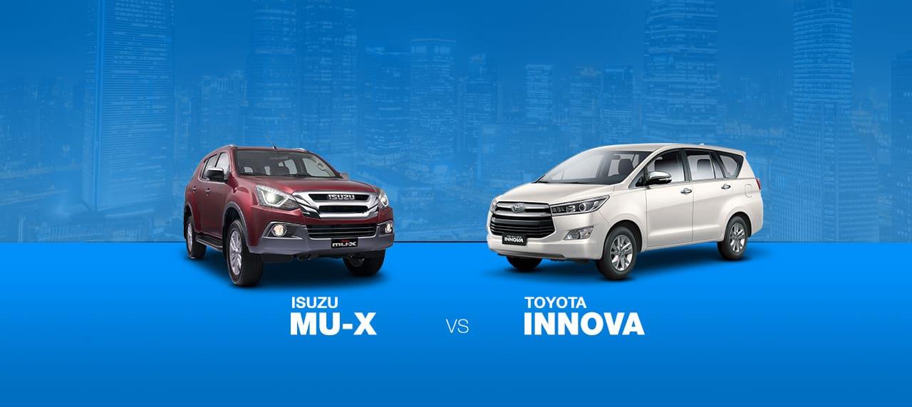 CAR COMPARISON: Isuzu Mu-X vs Toyota Innova