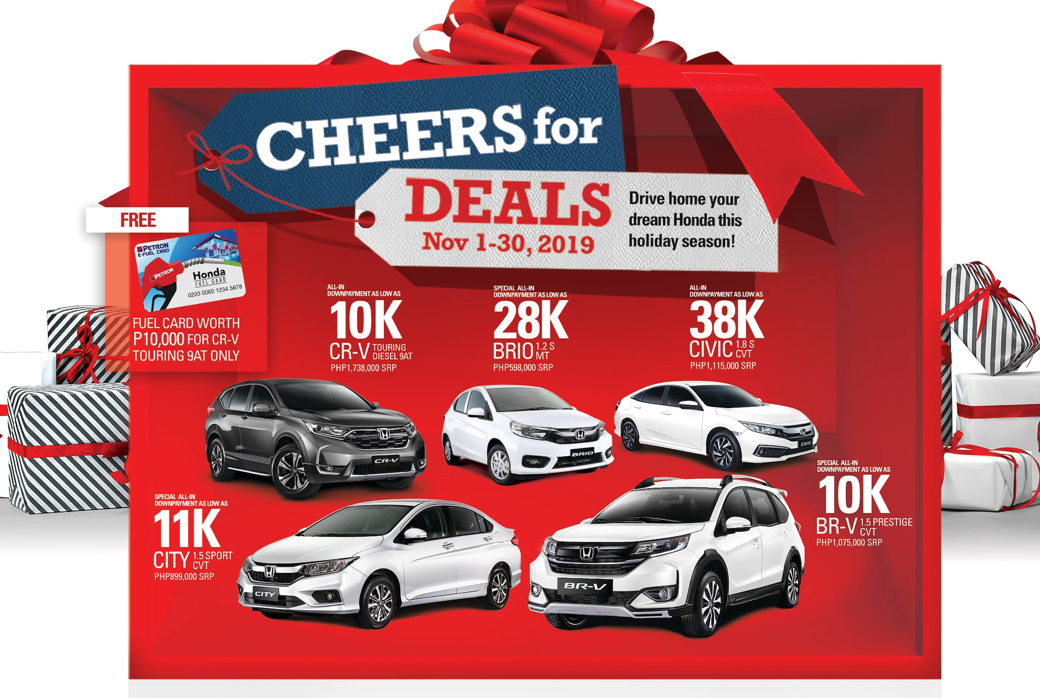 Honda offer early Christmas deals this month