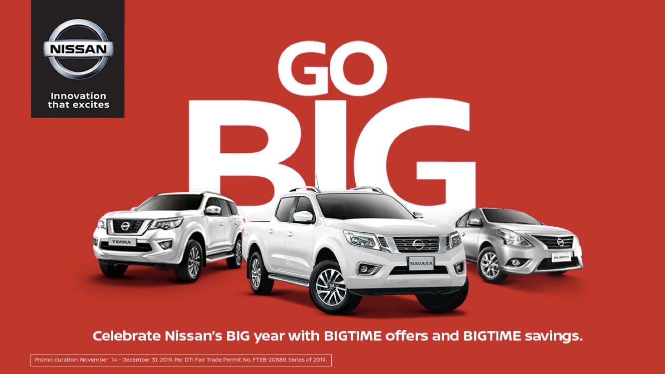 Nissan PH Offers GoBig Promo till Yearend