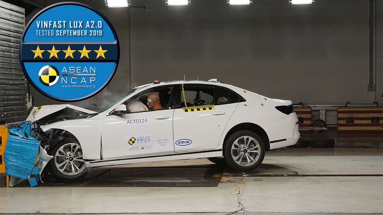 VinFast Snags Two Asean NCAP Five-Star Safety Ratings